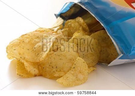 Blue packet of crisps