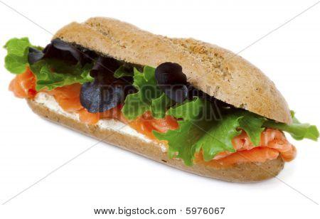 Healthy Smoked Salmon Multi Grain Sandwich