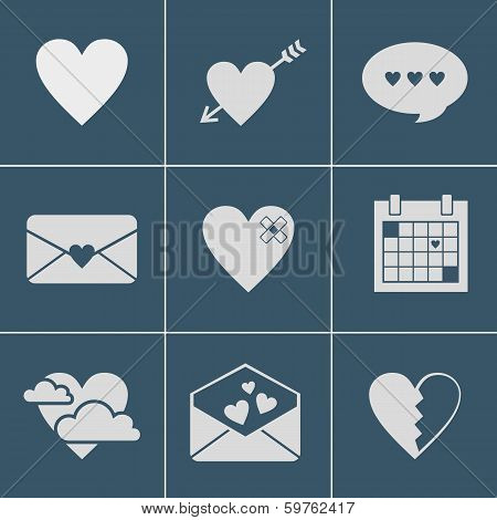 mail love icons. This is file of EPS8 format. poster