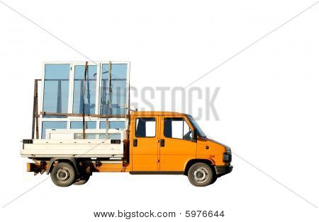 Truck Delivering Double-glazed Winows
