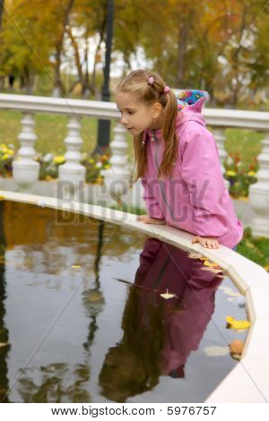 The girl at fountain