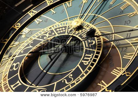 Astronomical Clock In Czech Capital Prague