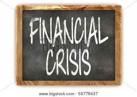 Blackboard Financial Crisis