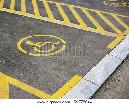 Parking Place Reserved For Disabled Person