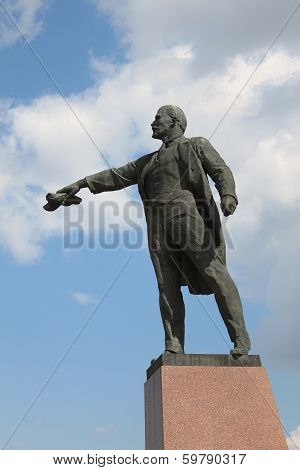 Lenin Statue In St. Petersburg, Russia
