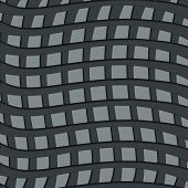 Grey weave pattern on a light grey background, poster