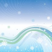 Abstract gradient background.Vector Illustration of winter weather poster