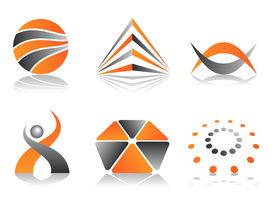 Orange and Grey Logos