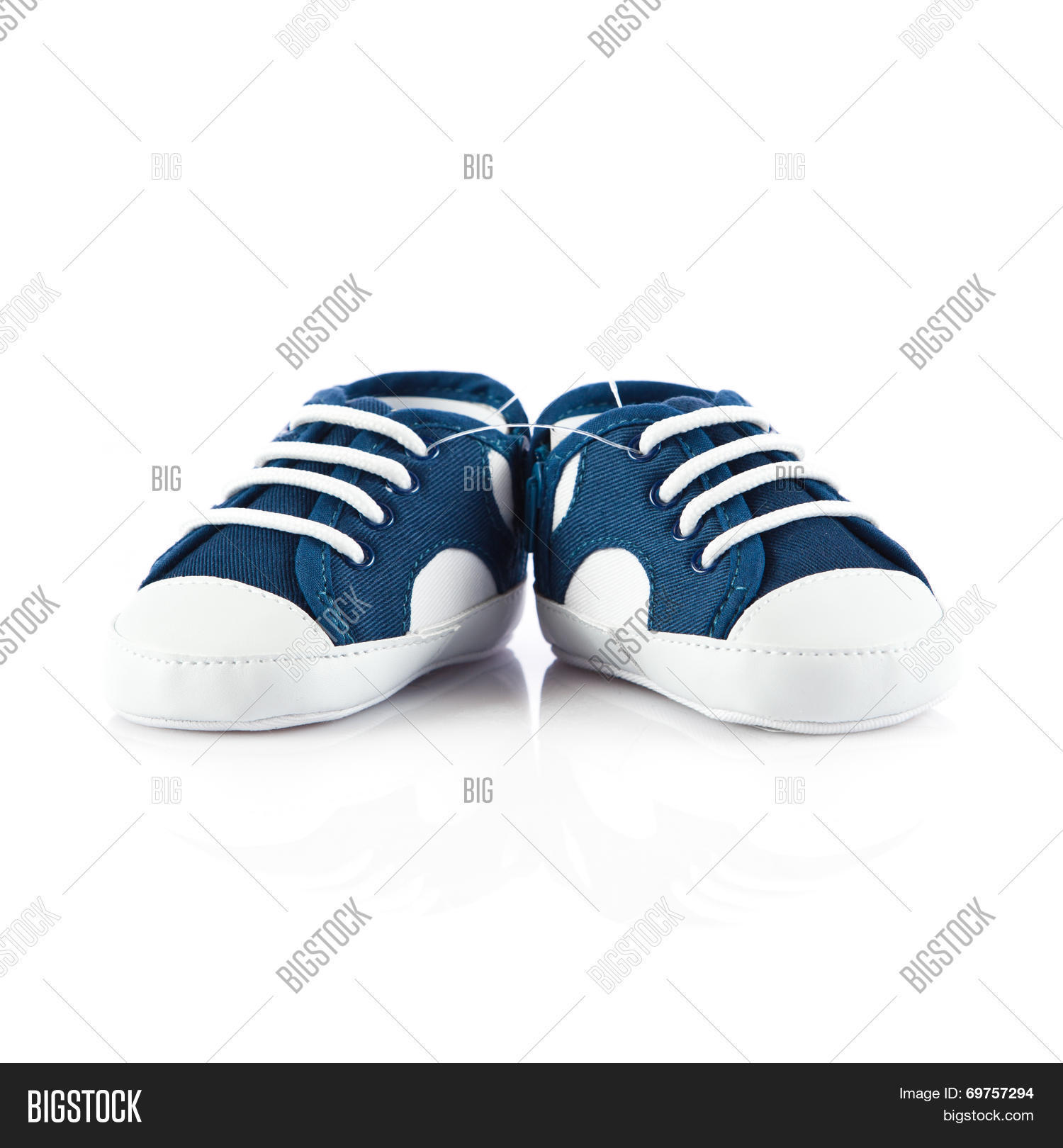 886851d96 Blue Baby Shoes Isolated On White Background