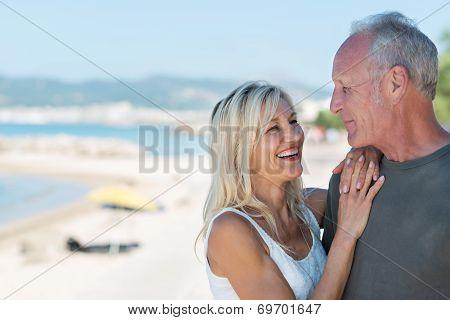 Laughing Beautiful Blond Woman