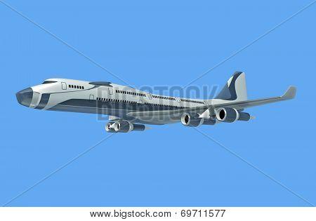 Futuristic commercial jet