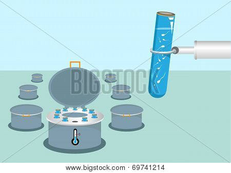 Sperm Bank Storage and Fertility Vector concept