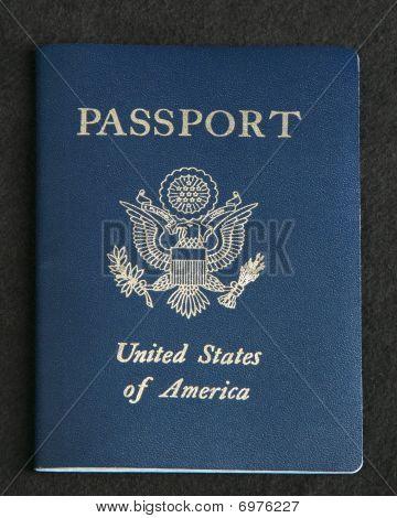 Passport On A Dark Gray Background