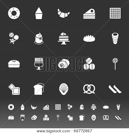 Variety Bakery Icons On Gray Background