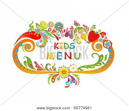 Cardboard for kids menu. Raster copy