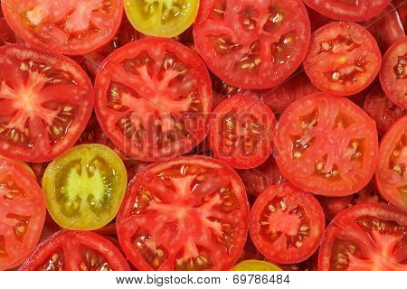 Sliced Tomatoes Background.