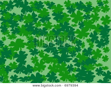 Shamrocks Background Abstract