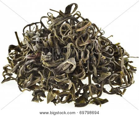 Heap pile of  Wild Tree Purpla Tea ,Yunnan , YE Sheng Cha ,  isolated on white background poster