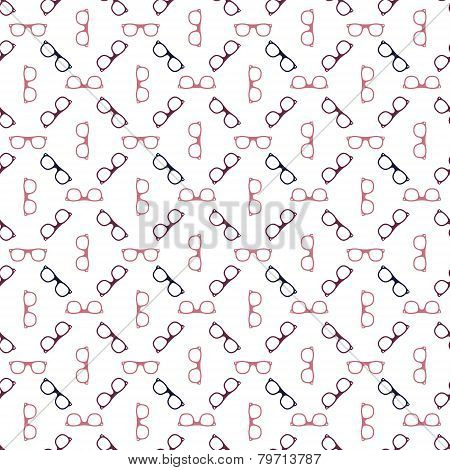 Glasses seamless pattern - vector spectacles texture
