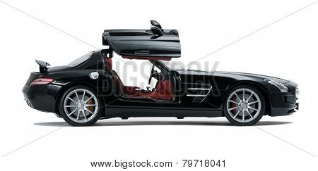 Luxurious Black Car Side View