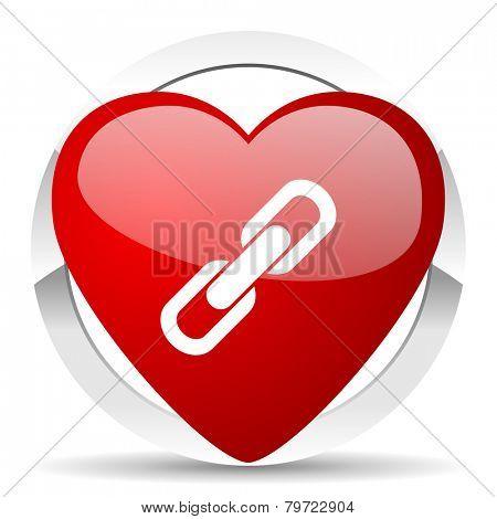 link valentine icon chain sign