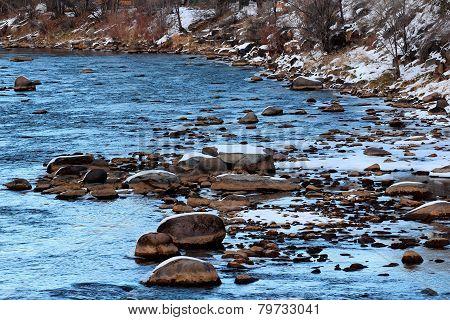 Winter in Animas River