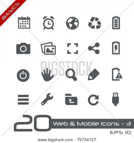 Web & Mobile Icons - 3 // Basics