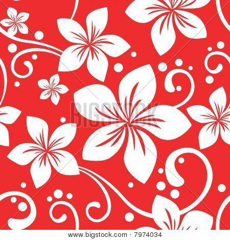Seamless Hawaiian Xmas Pattern