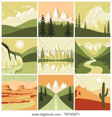 Nature Mountain Icons