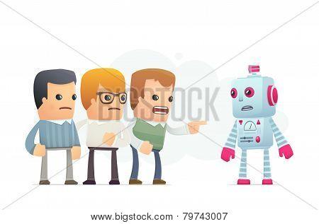 Community Accuses Robot.