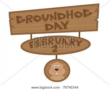 Groundhog Day Sign