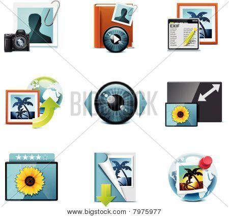 Iconos de fotografía de vector. Parte 4