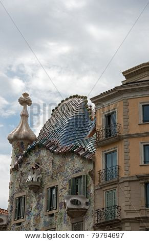 Gaudi's House Casa Battlo (house Of Bones) In Barcelona, Spain.