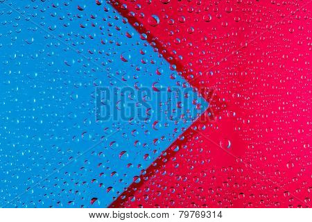 Abstract Background With Arrow And Drops Of Water
