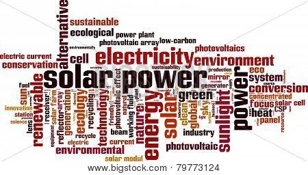 Solar Power Word Cloud
