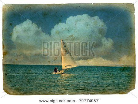 Sailboat At Sea.