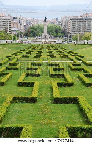 Eduardo Vii Park In Lisbon