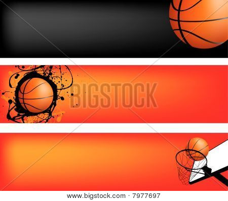 basketball web banner set