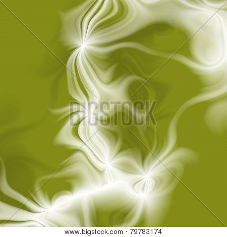 Elegant Plasmatic Background In Green And White
