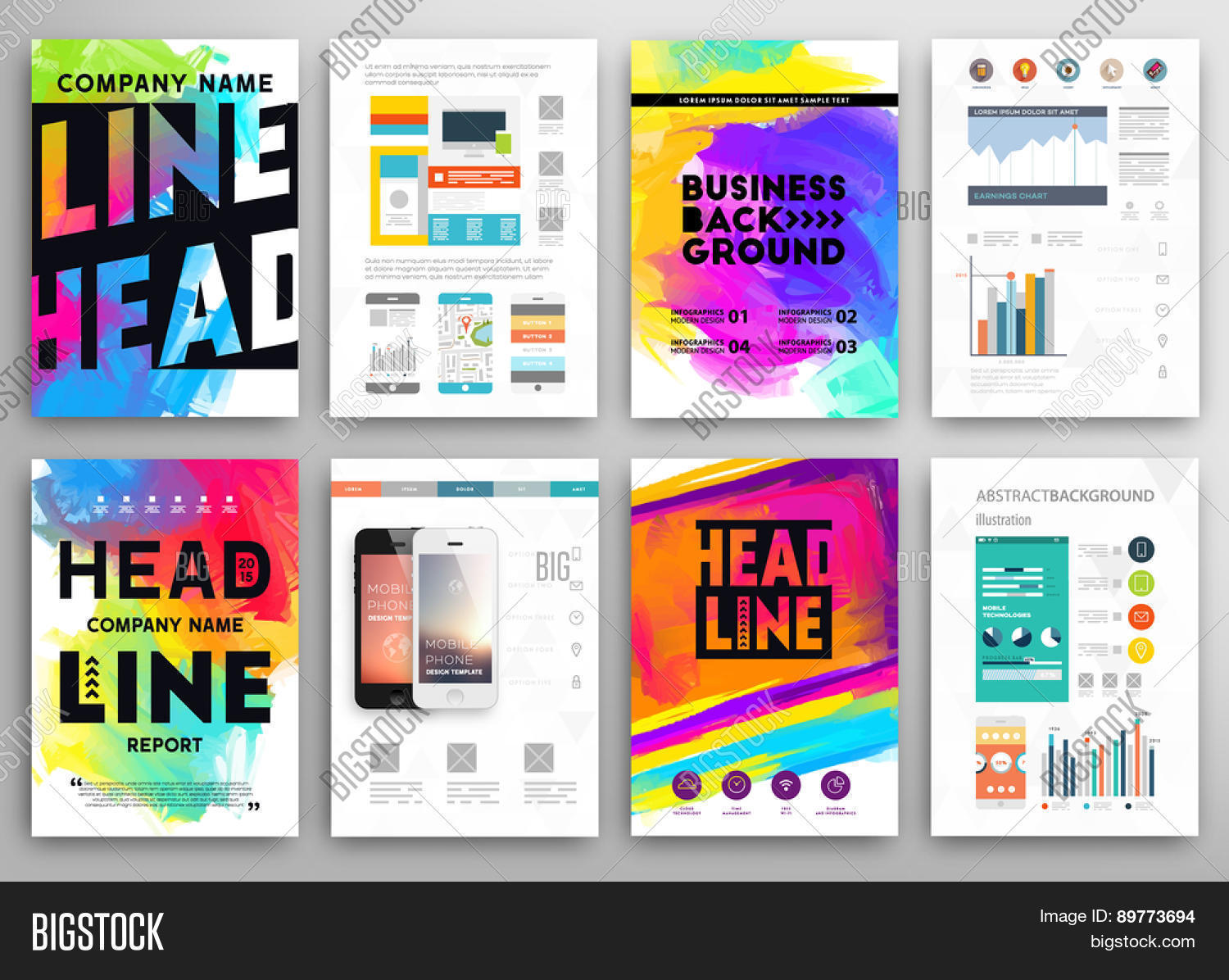 Set vector poster vector photo free trial bigstock set of vector poster templates with watercolor paint splash abstract aquarelle background for business flyers friedricerecipe Choice Image