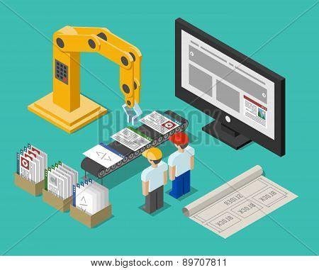 Development process web site interface