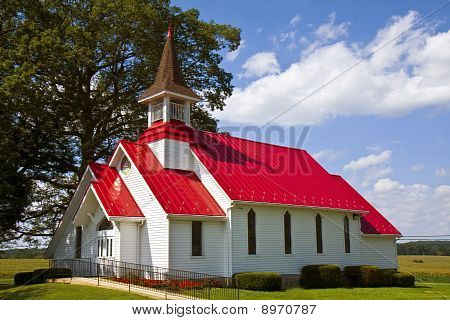 Country Red Roof Church