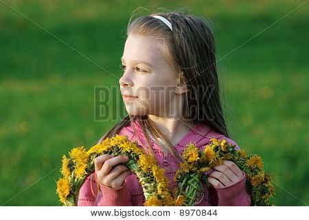 Young Girl In Summer Day.