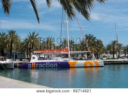 Colorful tourboat from Attraction