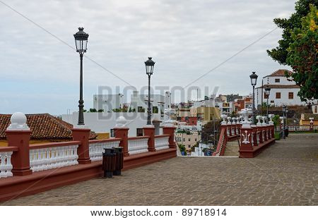 Cityscape Of Town Icod De Los Vinos, Tenerife, Canary, Spain.