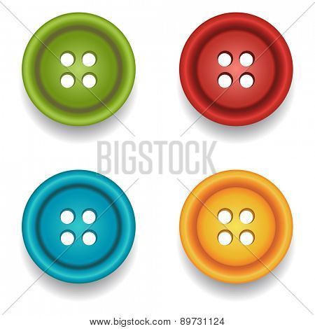 Sewing buttons. Vector