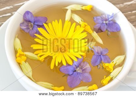 Cough Tea With Coltsfoot Violets Cowslip