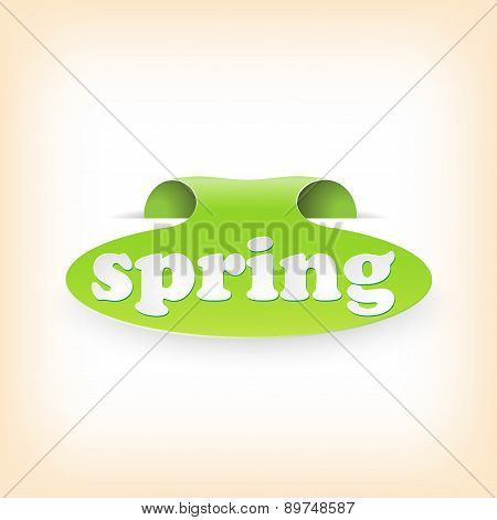 Realistic curved ribbon icon spring. Vector illustration
