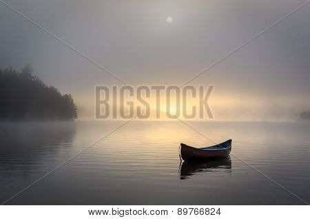 Misty Lake Canoe