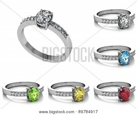 Set Of Rings. Best Wedding And Engagement Ring